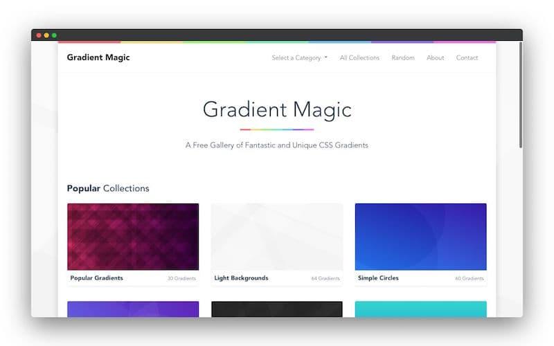Gradient Magic 网页设计师SVG图案背景生成工具