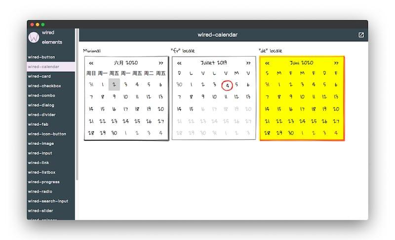 Wiredjs | 手绘风格的UI元素套件