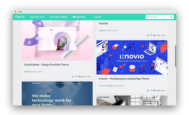 FlatUi | 平面设计师的创意灵感图库