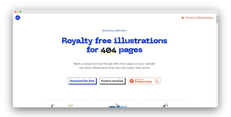 Error404   一套404页面插图素材免费使用