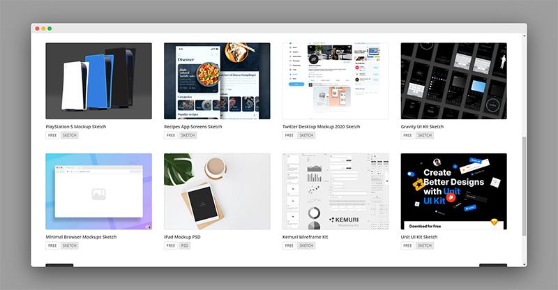 Uispace | 成千上万的免费UI设计资源