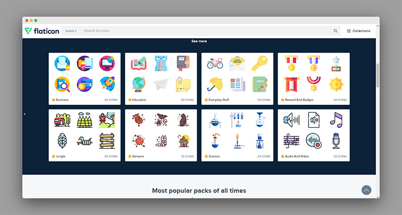 Flaticon | 超赞!三百多万海量免费图标素材库