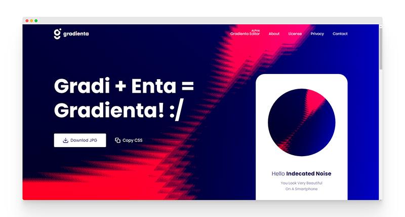 Gradienta   免费CSS渐变色背景生成工具