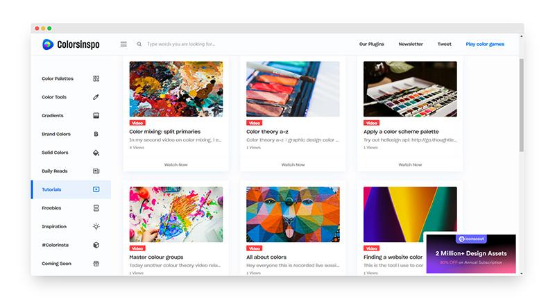 Colorsinspo | 色彩灵感在线调色板