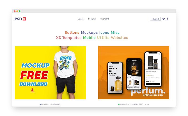 PSDRepo | 搜罗免费高质量PSD设计模板