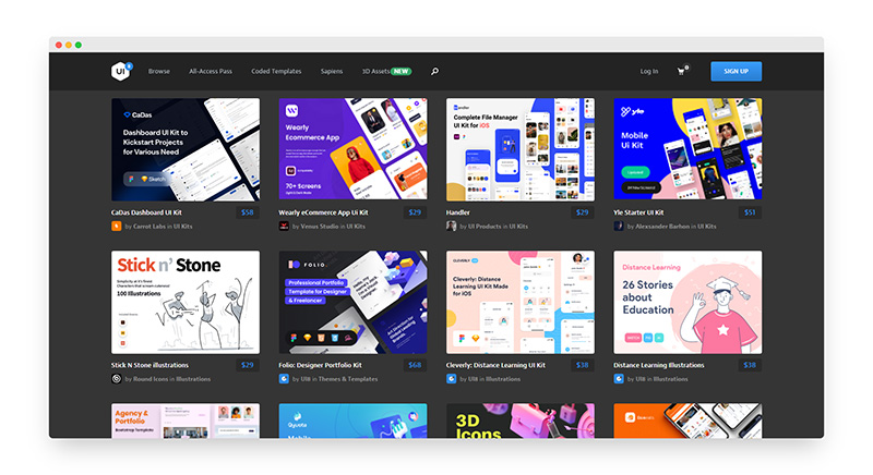 UI8 | 全球著名UI设计资源素材站
