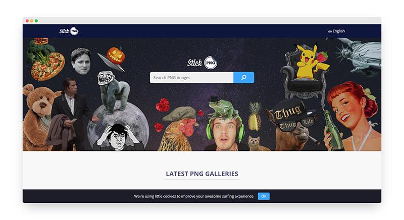 Stickpng | 30000多张免费PNG透明图片