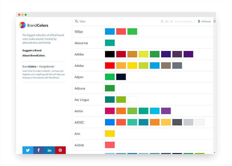 BrandColors | 全球知名品牌的颜色代码大全