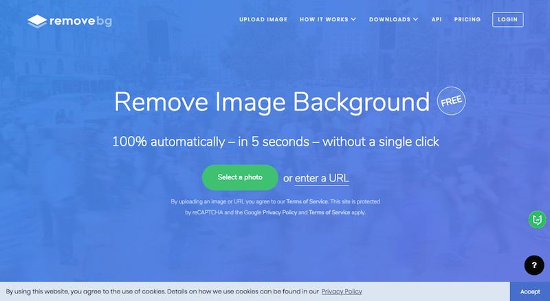 Removebg 一个免抠图自动去背景在线工具