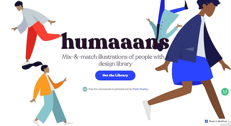humaaans|插图设计库,免费可商用人物插画设计素材图库