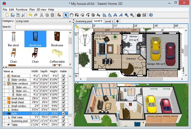 Sweet Home 3D 一款免费的家装辅助设计软件