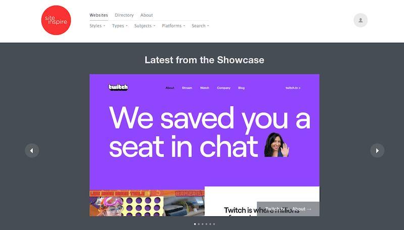 Siteinspire|优秀网页设计资源平台