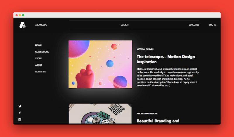 Abduzeedo 千万创意灵感和教程的设计博客