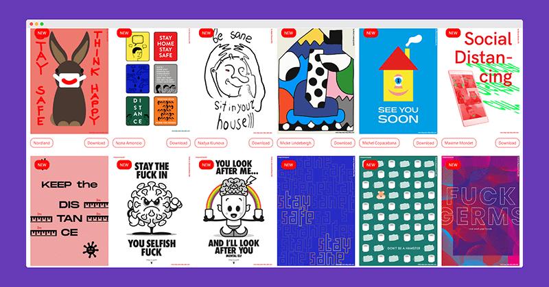 防疫公益海报   全球设计师们自发的「防疫公益海报创作活动」海报素材免费下载