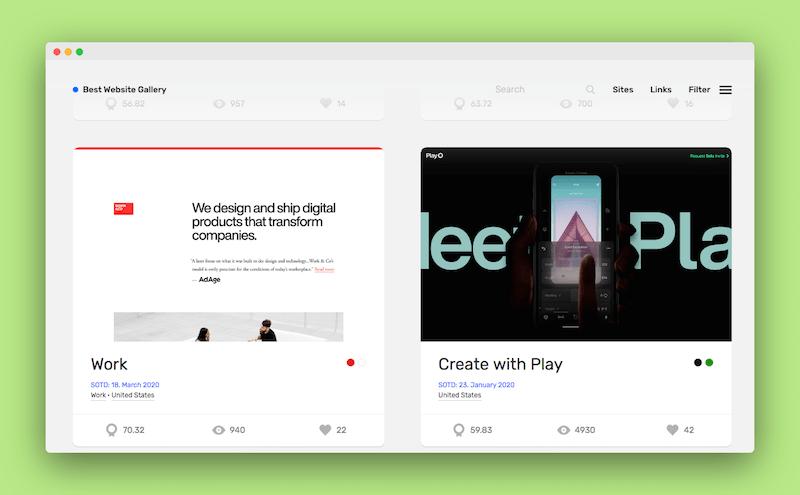 BestWebsite|一个展示优秀网站设计作品创意灵感社区