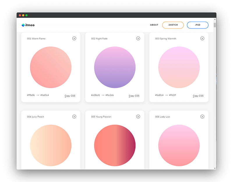 WebGradients   设计师的色彩百宝箱,渐变色在线工具