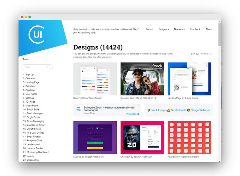 Collectui | 提供超过14000多例UI网页设计作品
