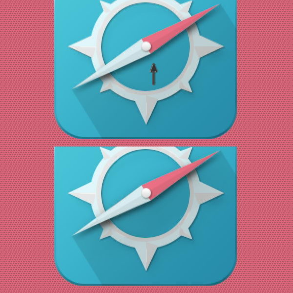 精美罗盘指针UI图标设计教程
