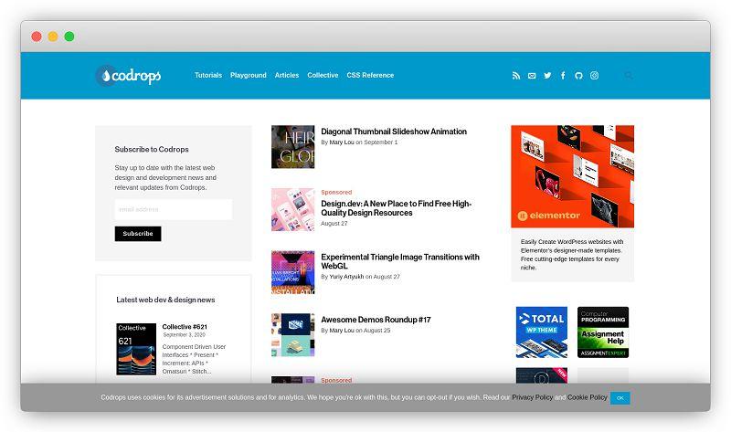 Codrops | 国外顶级Web创意灵感社区