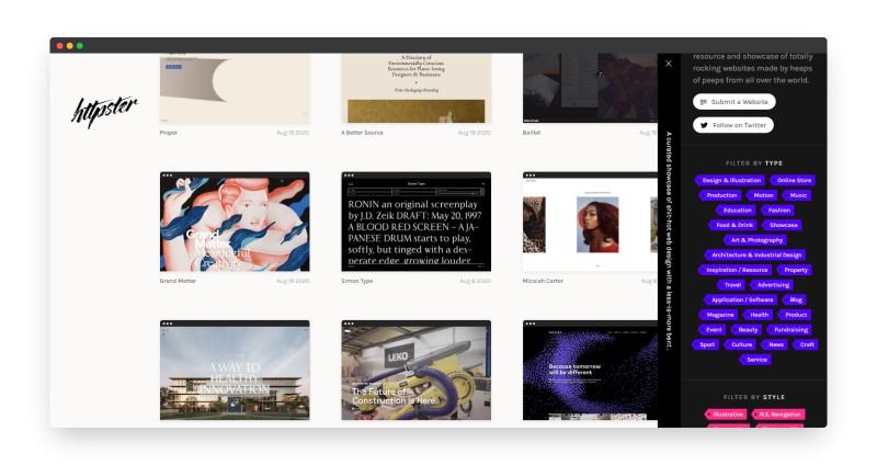 Httpster | 展示全球网页设计灵感的社区
