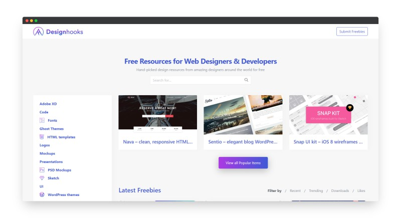Designhooks | 专为Web设计师和开发人员提供免费的设计资源