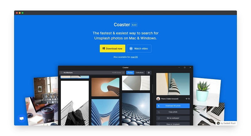 Coaster | 苹果Mac和Windows图片素材搜索软件