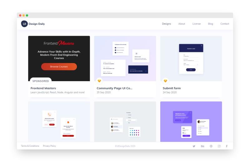 UI Design Daily | 免费优质的UI设计资源