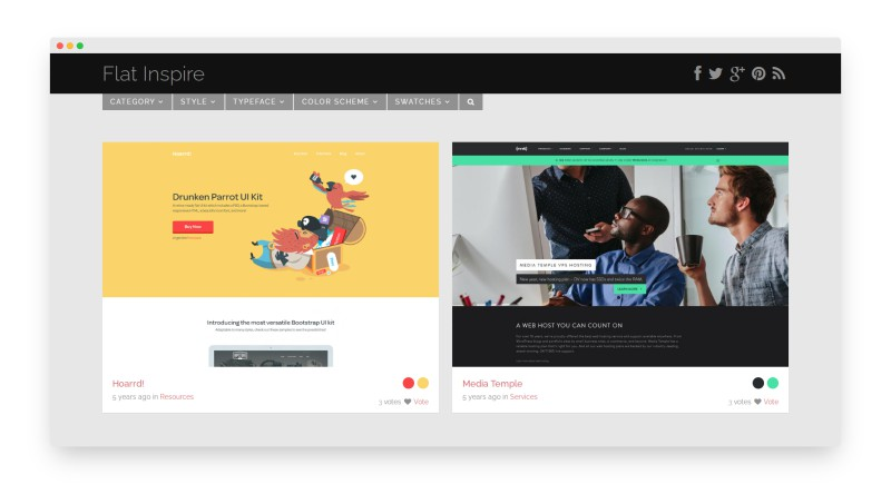 Flatinspire   让人震撼的网页设计作品
