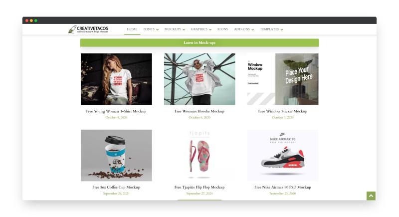 Creativetacos | 4000多款高质量免费设计模板