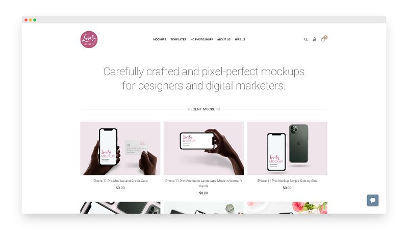 LovelyMockups | 专为设计师提供完美PSD样机模型