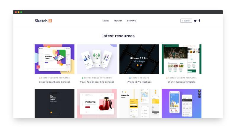 Sketchrepo   互联网流行的UI原型图素材