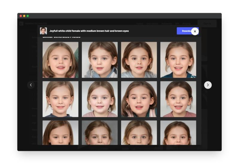 Generated | 260万张AI智能生成的头像图库