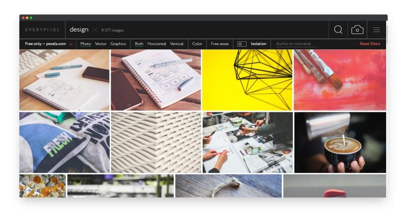 Everypixel | 超过一亿张图片素材的搜索神器