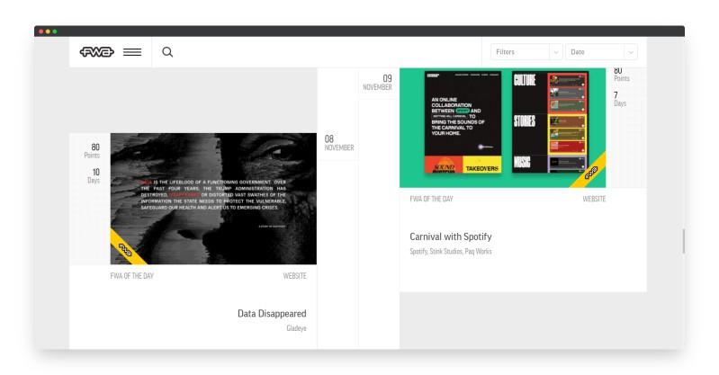 FWA | 强烈推荐!超高水准的网站设计案例