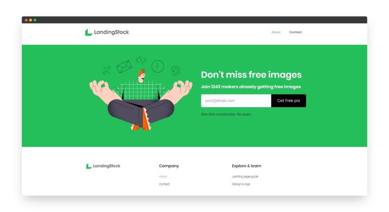 LandingStock   一套商务插图素材免费使用