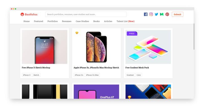 Bestfolios   全球优秀UI/UX设计作品集合