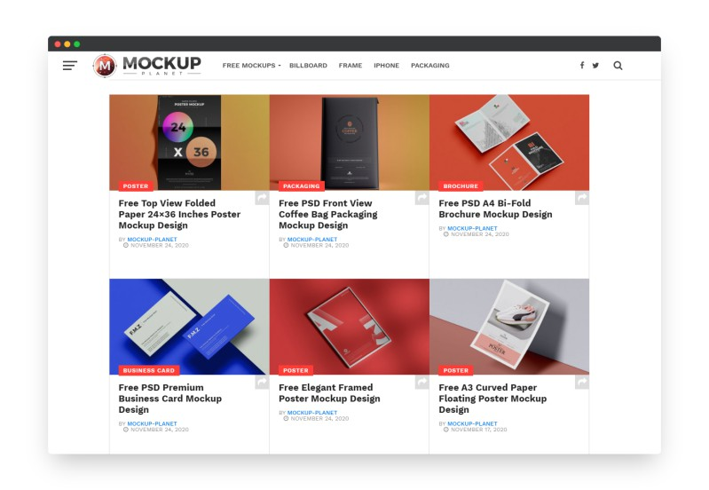 Mockupplanet | 令人惊艳的免费PSD样机模型素材