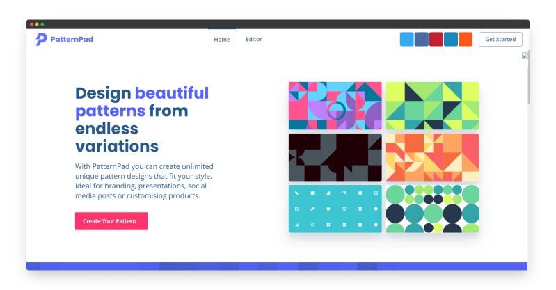 PatternPad | 一键生成有趣好玩的SVG背景图案