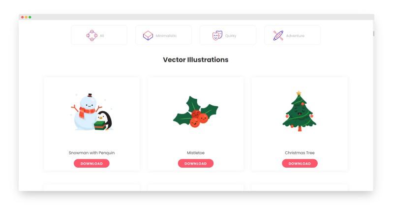 Pixeltrue | 提供150多款免费可商用的插图和动画素材