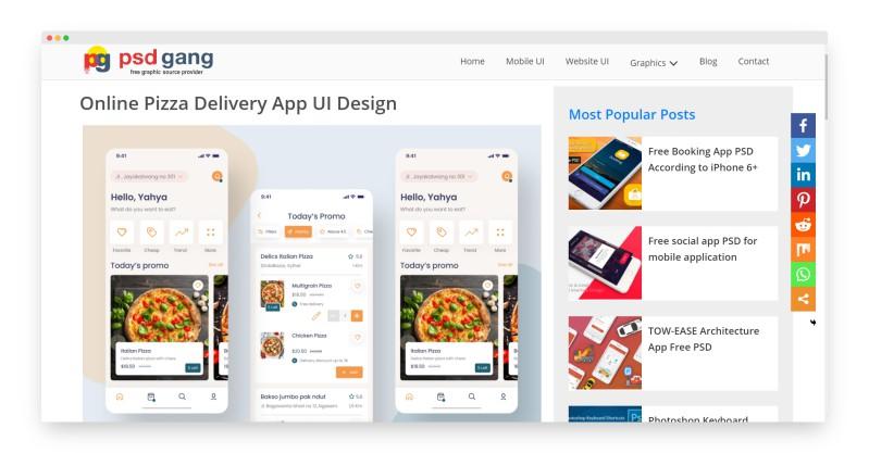 psdgang   500多款优质UI套件资源免费使用