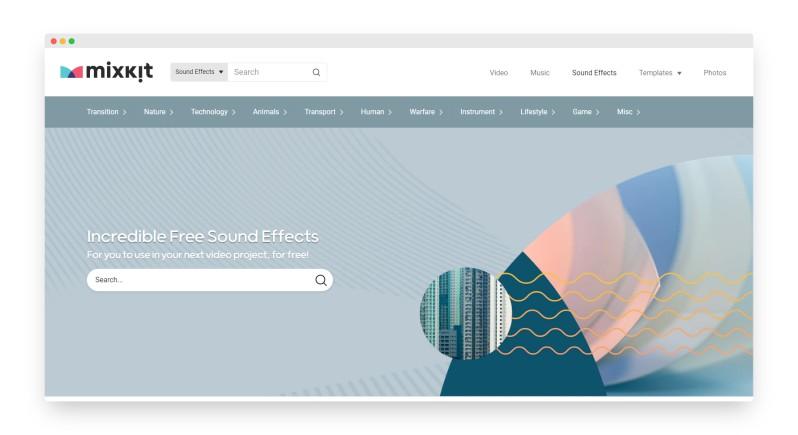 Mixkit | 海量视频音效免费可商用