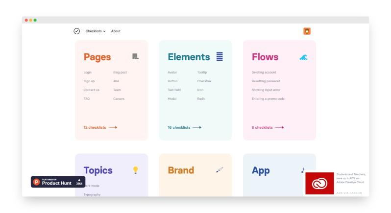 Checklist   最佳UI产品设计清单