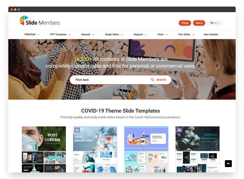 Slidemembers | 国外优秀的 PPT 模板网站