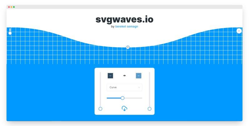 Svgwaves | 在线制作波浪背景图案工具