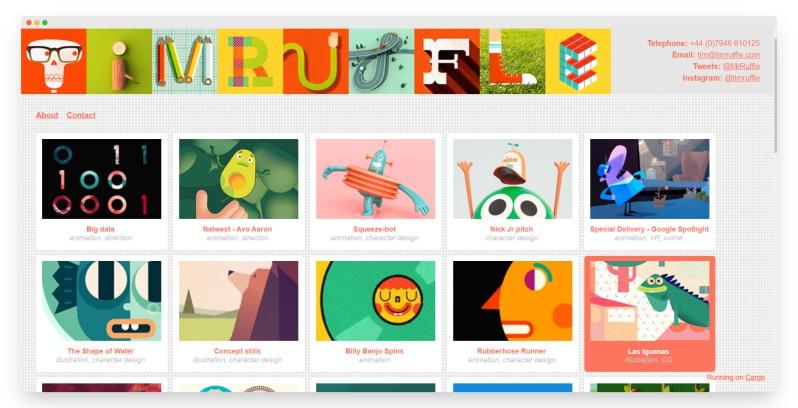 Tim Ruffle | 国外宝藏级的创意动画作品站
