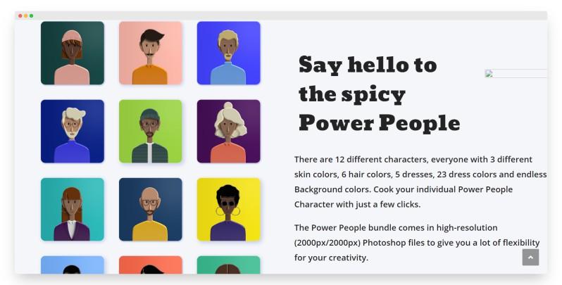 PowerPeoplePlatform | 有趣好玩的3D个性化头像素材站