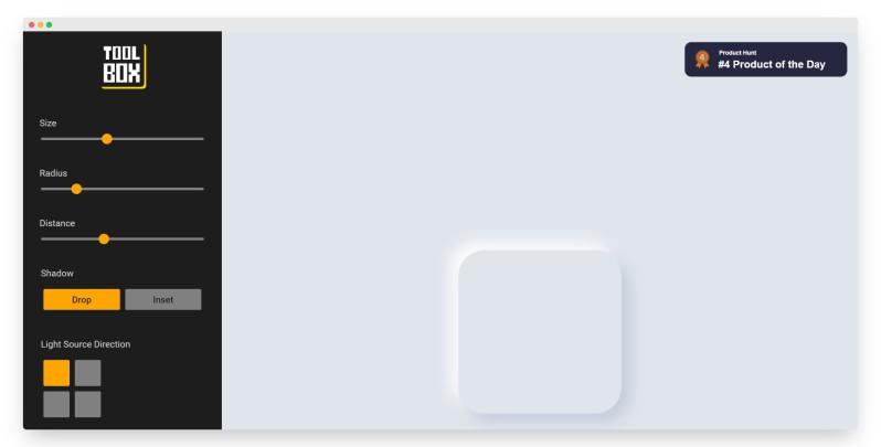 Toolbox | 在线制作CSS玻璃形态和拟物形态的工具箱